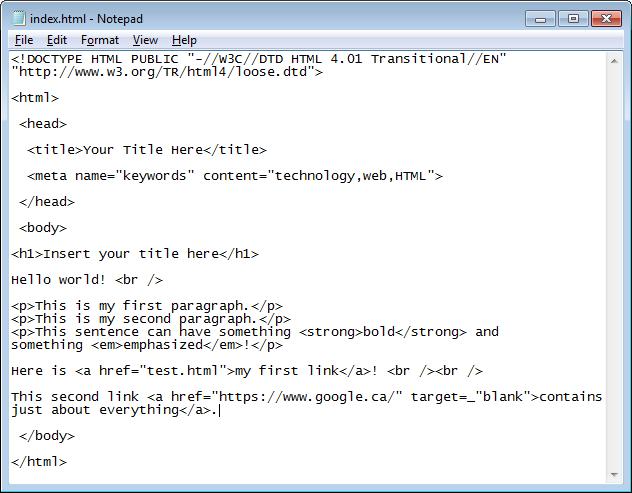 HTML Part 4 - Links - Internal, External and Anchor